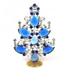 2020 Xmas Tree Decoration 14cm Pears ~ Blue Clear