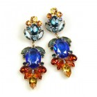 Iris Grande Pierced Earrings ~ Blue Topaz