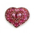 Magic Heart Brooch ~ Red Fuchsia