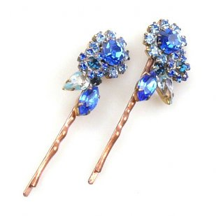 Melancholy Bobby Hairpins ~ Winter ~ Pair