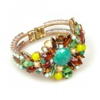 Empress Clamper Bracelet ~ Jade Greeen with Topaz