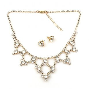 Beauty in Crystal ~ Rhinestone Necklace Set