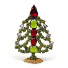 Xmas Tree Standing Decoration 2017 #08 Green Red