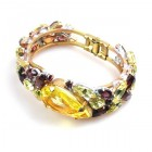 Fountain Clamper Bracelet ~ Yellow Purple