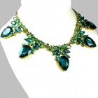 Clementine Necklace ~ Emerald with Green