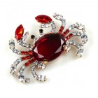 Crab Pin Medium ~ Red