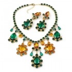 Heritage of History Set with Earrings ~ Emerald Topaz