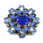 Aztec Sun Brooch ~ Blue