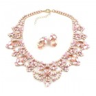 Dolce Vita Necklace and Earrings ~ Pink with Opaque Rose