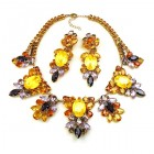 Iris Grande Necklace Set ~ Opaque Yellow Violet