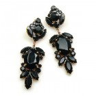 Iris Grande Pierced Earrings ~ Black
