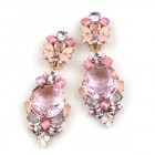 Muse Earrings with Clips ~ Pink