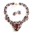Elipse Necklace Set with Earrings ~ Purple