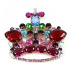 Monarch Crown ~ Fuchsia Red and Colors