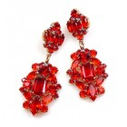 Fatal Passion Earrings Pierced ~ Ruby Red
