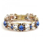 Harmony Clamper Bracelet ~ Clear Crystal Blue