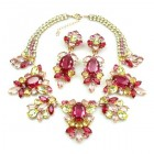 Iris Grande Necklace Set ~ Fuchsia Yellow