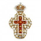 Extra Cross and Crown ~ Topaz