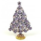 2020 Xmas Tree Stand-up Decoration 15cm ~ Purple Violet