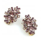 Genova Clips Earrings ~ Purple Amethyst