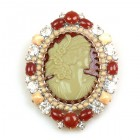 Cameo Lady Relief Brooch