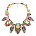 Carmen Necklace ~ Color Mix Tones with Uranium Yellow