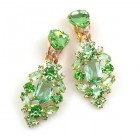 Fatal Touch Earrings Clips-on ~ Peridot Green