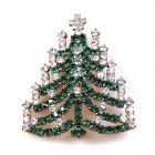 Chain Xmas Tree Brooch #10