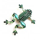 Froglet Pin ~ Emerald