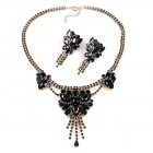 Iridescence Necklace with Earrings ~ Black