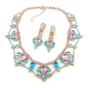 Roxanne Lite Set with Earrings ~ Multicolor with Pink