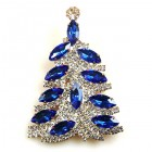 Xmas Navette Tree Brooch ~ #6
