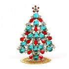 Xmas Tree Standing Decoration 2019 #19 ~ Emerald Clear Red