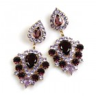 Lioness Pierced Earrings ~ Purple Violet