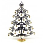 18cm Xmas Tree with Dangling Rondelles ~ Purple Clear