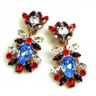 DG Replica Earrings Clips ~ Sapphire