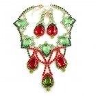 Iris Rain Set ~ Peridot Red Olive Emerald
