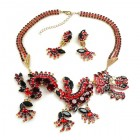 Chinese Dragon Necklace Set