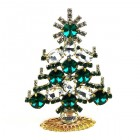 Xmas Tree Standing Decoration 2020 #20 ~ Emerald Rivoli Clear