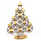 Xmas Tree Decoration Rings and Navettes ~ Clear Topaz