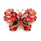 Multicolor Butterfly ~ Barrette Hairclip #2