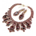 Absolue Necklace Set with Earrings ~ Purple