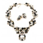Waterfall Set ~ Clear Crystal Black
