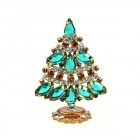 Xmas Tree Standing Decoration 2018 #18 ~ Emerald Topaz