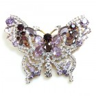 Grand Butterfly ~ Clear Violet Purple ~ Extra Big