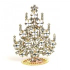 Rivoli Xmas Stand-up Tree 9cm ~ Clear Crystal