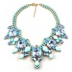 Taj Mahal Necklace ~ Opaque Azure with Sapphire Blue