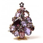 3 Dimensional Medium Xmas Tree Decoration ~ Violet Tones