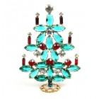 Xmas Tree Standing Decoration 2020 #15 ~ Emerald Red Clear