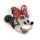 Minnie Brooch ~ Head